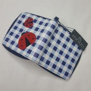 Minicci Bags - 4/$25 Ladybug Wallet Purse Bag Zipper Blue Red